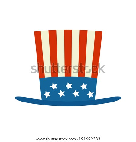 usa top hat for independence day vector illustration isolated on white background