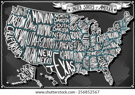 United States Map Stock Images RoyaltyFree Images Vectors - Hand drawn us map vector