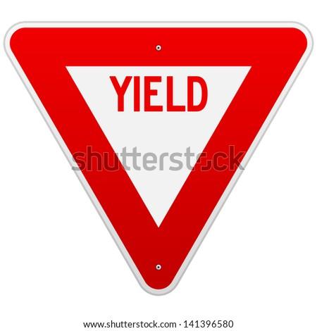USA Yield Sign - stock vector