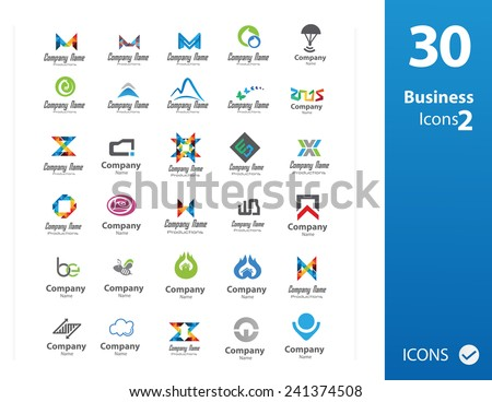 Usable Business logo Set ( Set of 30 logo ) - stock vector