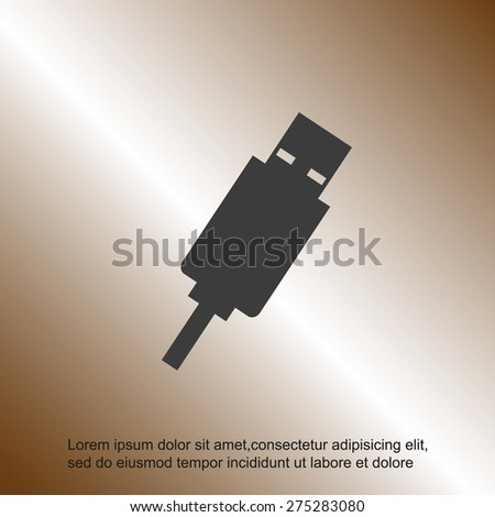 usb cable - stock vector
