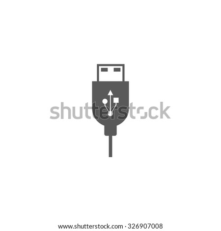 usb cable icon - stock vector