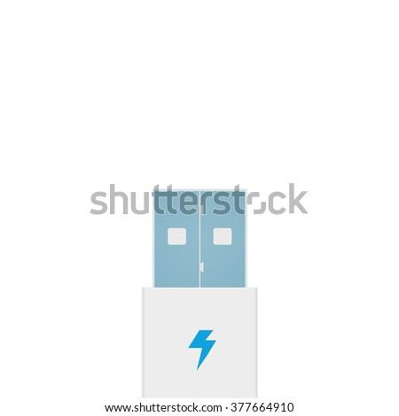 usb connector - stock vector
