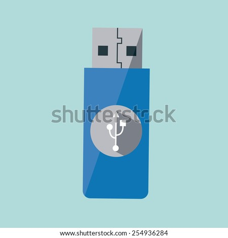 usb device design, vector illustration eps10 graphic  - stock vector