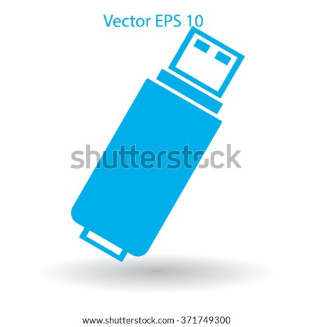 usb flash drive for computer vector icon - stock vector
