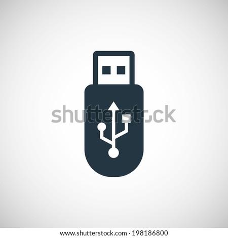 usb icon - stock vector