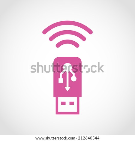 Usb wifi Icon Isolated on White Background - stock vector