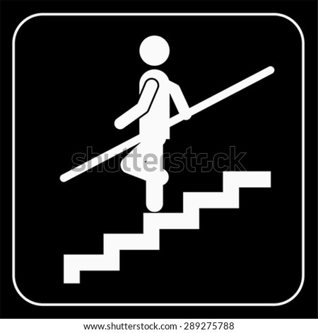Use Handrail sign, vector - stock vector
