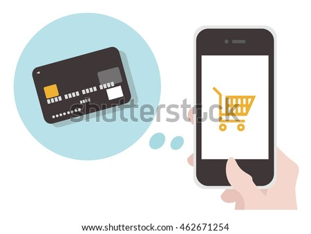 Use the credit card in the online shop