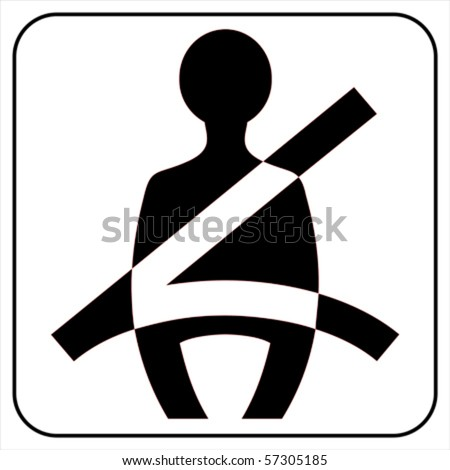 use your seat belt sing  ,  vector - stock vector
