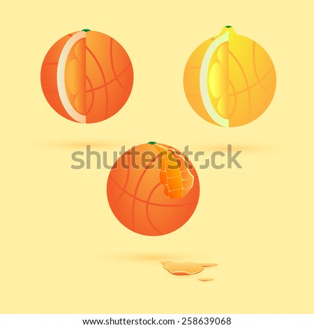 useful fruits and vegetables for athletes - stock vector