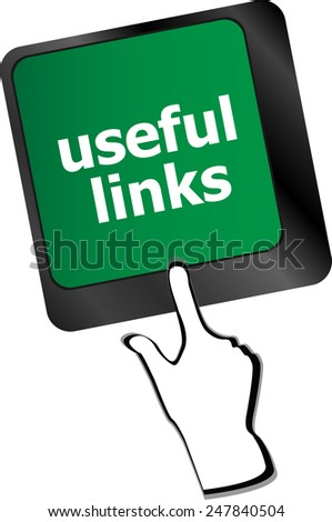 useful links keyboard button - business concept - stock vector
