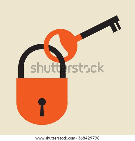 useless key locked by a padlock