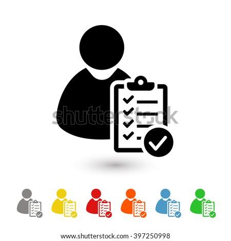 User checklist icon - stock vector