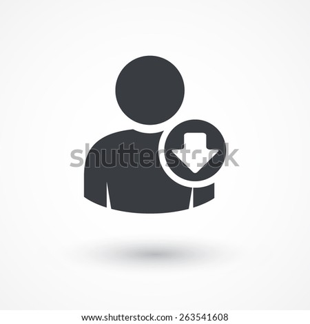User download icon. - stock vector
