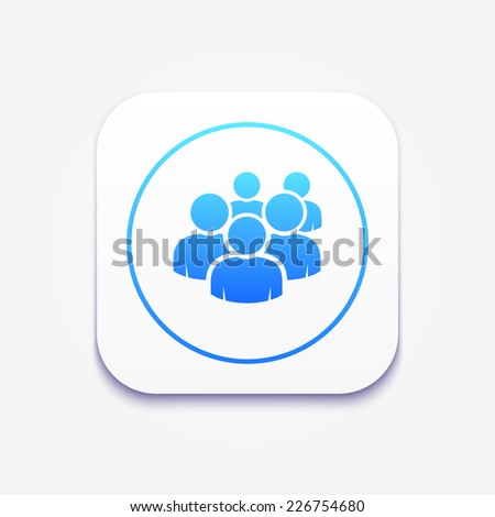 User group network icon.  - stock vector