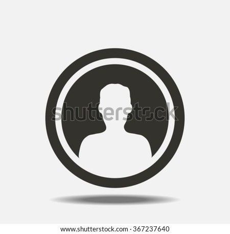 User icon - stock vector