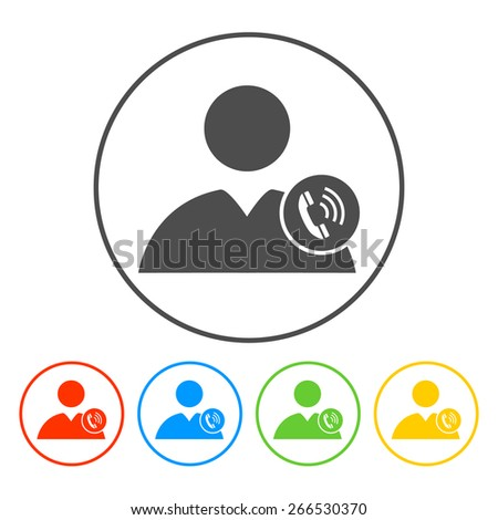 User icon of a phone. Vector illustrator - stock vector