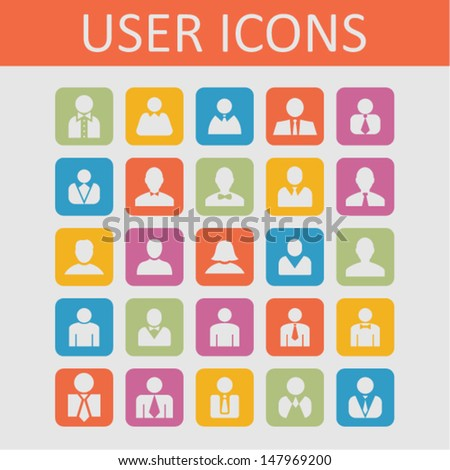 User icon set for site