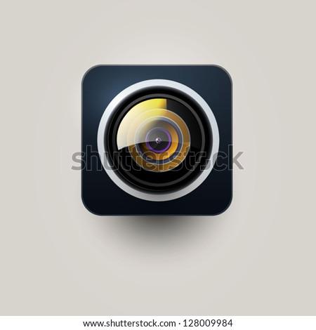 User interface camera icon - stock vector