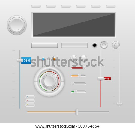 User Interface Design Elements - stock vector