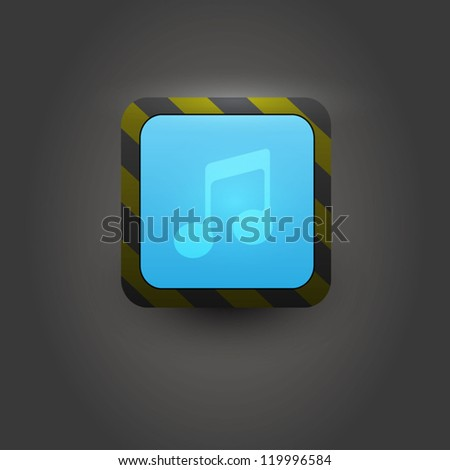User interface icon for media player