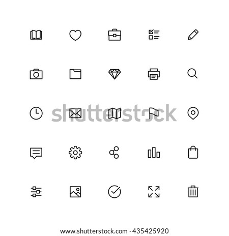 User Interface Icons  - stock vector