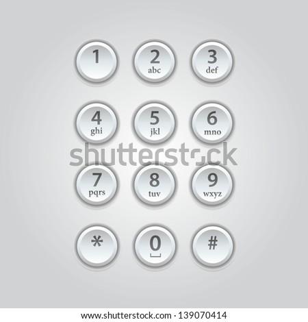 User interface  keypad for phone - stock vector