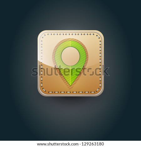 User interface map marker icon - stock vector