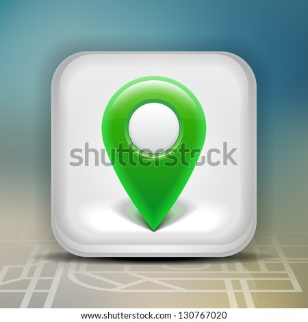 User interface map marker icon. Eps 10. - stock vector