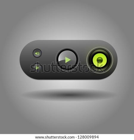 User interface media player - stock vector