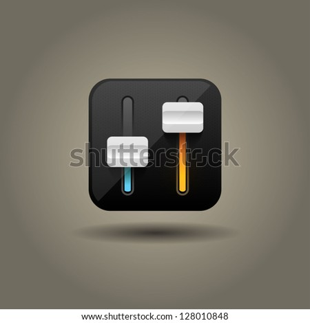User interface power slider icon - stock vector
