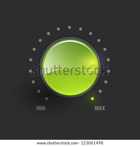 User interface scanning element - stock vector