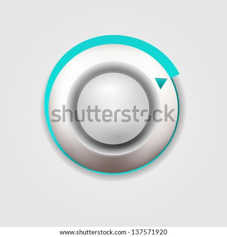 User interface scanning element for media player - stock vector