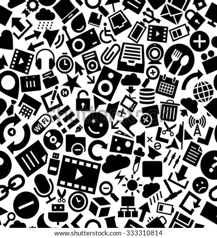 User Interface Solid Icons Pattern