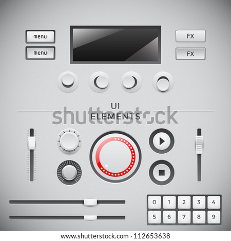 User interface web elements. UI vector set
