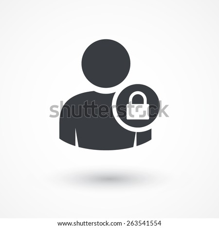User login or authenticate icon, vector. - stock vector