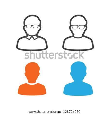 User Profile Picture Icon Vector Set - stock vector