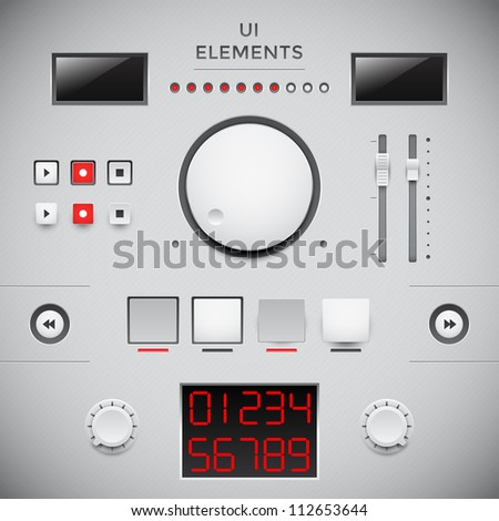 User web interface design. UI elements - stock vector