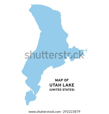 Utah Lake United States Map Vector Stock Vector 292223879 - Shutterstock