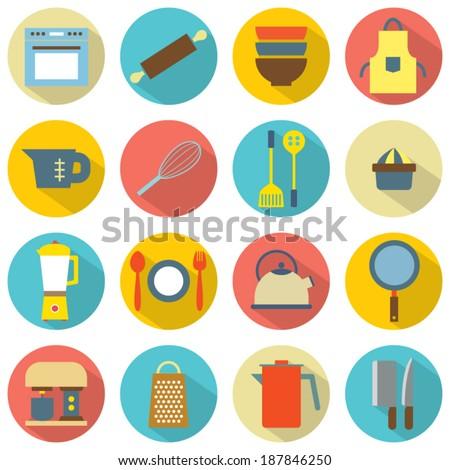 Utensils Icons set 16 - stock vector