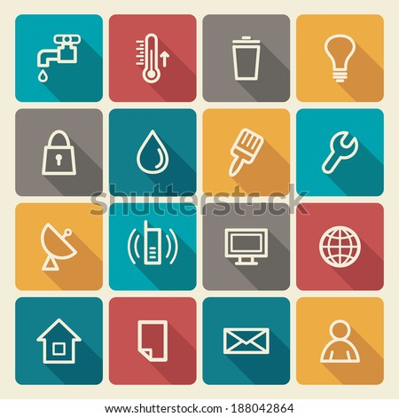 Utilities icons - stock vector