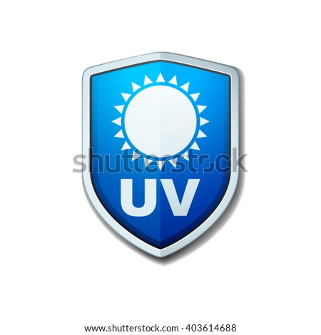 UV Protection shield - stock vector