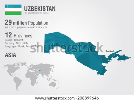 Uzbekistan world map pixel diamond texture vector de stock208899646 uzbekistan world map with a pixel diamond texture world geography gumiabroncs Images