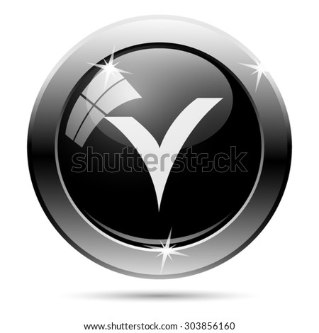 V checked icon. Internet button on white background. EPS10 vector