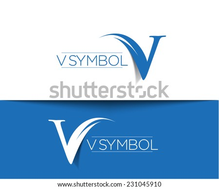 V company vector logo and symbol Design  - stock vector