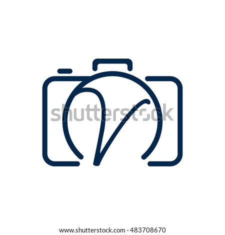 v photography logo design stock vector 483708670 shutterstock rh shutterstock com photography vectors free photography vector icons