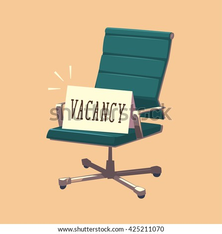 Vacant chair. Concept vector illustration. - stock vector