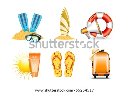 Vacation and travel icons, 4