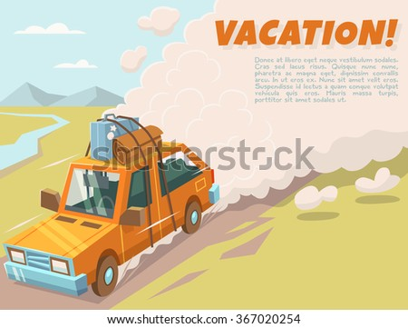 Vacation background with space for text. Vector illustration.